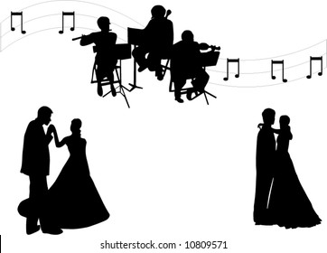 illustration of a wedding shapes