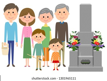 The illustration of which you're visiting the grave.