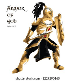 An illustration of the whole Armor of God, taken from the epistle of Apostle