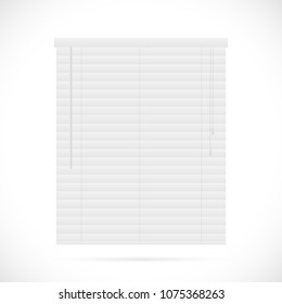 Illustration of window blinds isolated on a white background.