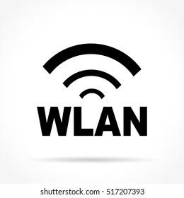 Illustration of wlan icon on white background
