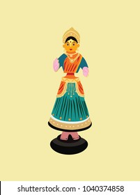 ILLustration of Woman toy