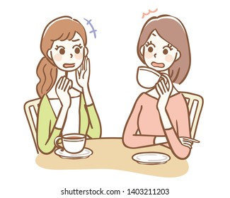 Illustration of a woman who talks rumor