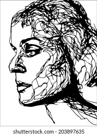 Illustration of woman's face
