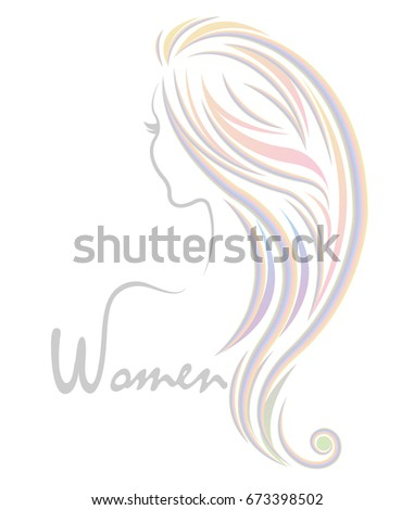 Illustration Women Color Hairstyle Icon Logo Stock Vector Royalty