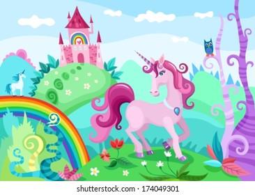 illustration of a wonderful unicorn