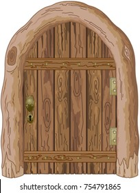 Illustration of a wooden barn door