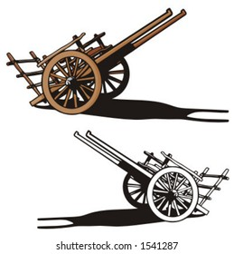 Illustration of a wooden cart.