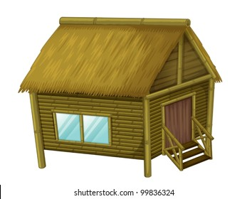 Illustration of a wooden hut