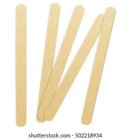 Illustration of a wooden sticks. Ideal for catalogs, informational and institutional material