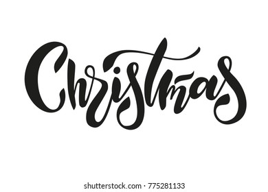 """The illustration of word """"Christmas"""""""