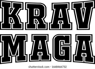 illustration of the words krav maga