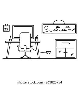 illustration workplace