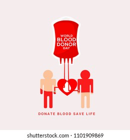 Illustration Of World Blood Donor Day Background.