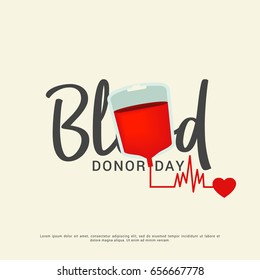 Illustration Of World Blood Donor Day.