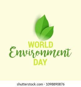 Illustration Of World environment Day Background.