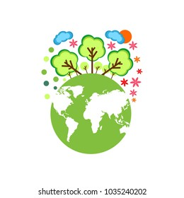 Illustration Of World Environment Day. Save our planet. Vector illustration