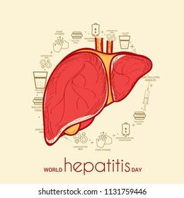 Illustration of World Hepatitis Day.
