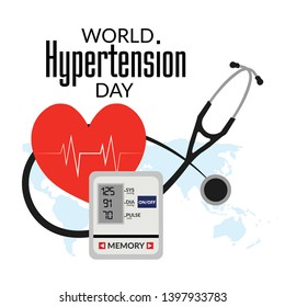 Illustration Of World Hypertension Day Background. - Vector