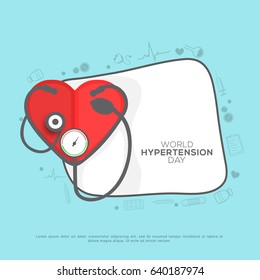 Illustration Of World Hypertension Day Background.