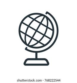 illustration world icon, globe vector icon, flat design best globe icon