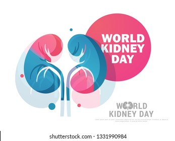 Illustration Of World Kidney Day Poster Or Banner Background.