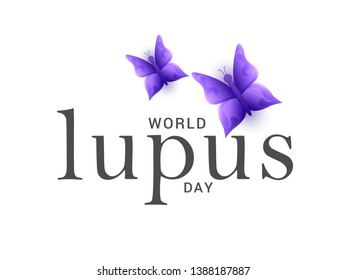 Illustration Of World Lupus Day Background.