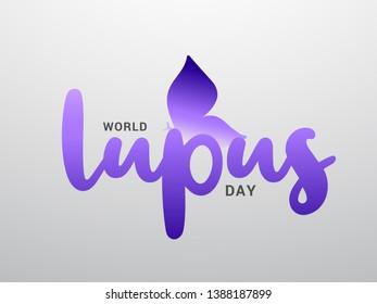 Illustration Of World Lupus Day Background.