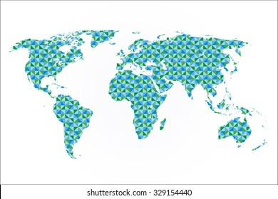 illustration of a world map with a pattern