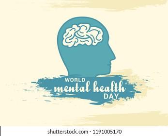 Illustration of world mental health day.