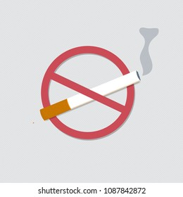 Illustration of World No Tobacco Day Concept Stop Smoking.Vector
