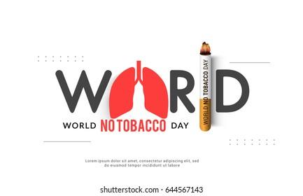 Illustration Of World No Tobacco Day.