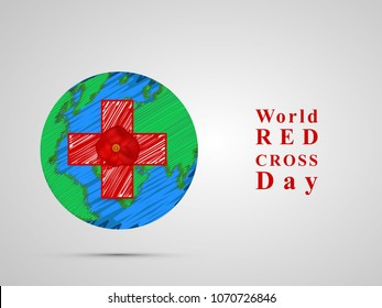 Illustration of World Red Cross Day background