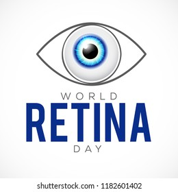 Illustration Of World Retina Day.