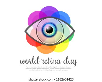 Illustration Of World Retina Day.