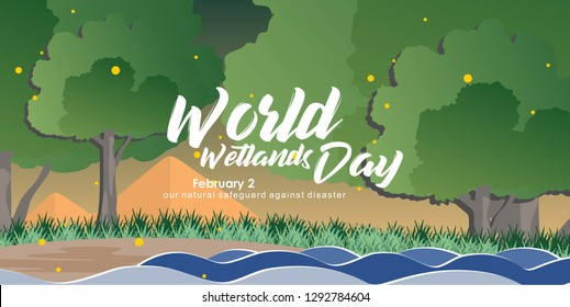 Illustration World Wetlands Day In The Morning