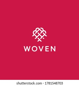 illustration of woven logo design for craftsmen, with a touch of modern style, simple, luxury logo design
