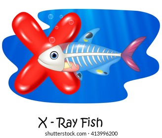 Illustration X of letter X-ray fish