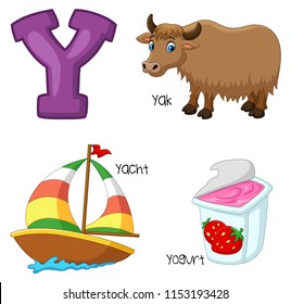Illustration of Y alphabet
