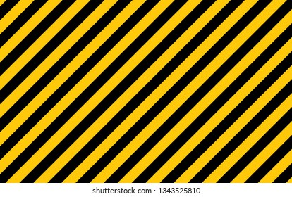 Illustration of yellow and black stripes.a symbol of dangerous and radioactive substances.The sample is widely used in industry.Vector Illustration.