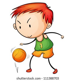 Illustration of a young basketballer
