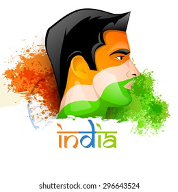 Indian Flag Paint On Face Images, Stock Photos & Vectors | Shutterstock