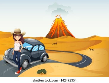 Illustration of a young teenager on a journey