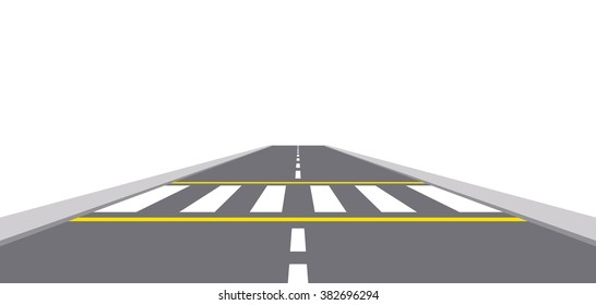 Illustration of zebra cross