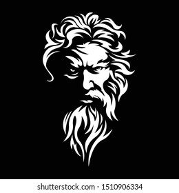 illustration of zeus black background