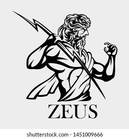 Illustration of zeus greek god