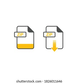 Illustration of ZIP icon download, ZIP graphic archives icon set, zip archives download