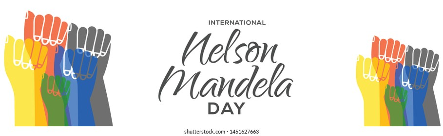 illustration,banner or poster for International Nelson Mandela Day.