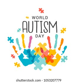illustration,banner or poster of World autism awareness day.