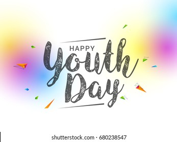 illustration,card,banner or poster for international youth day.